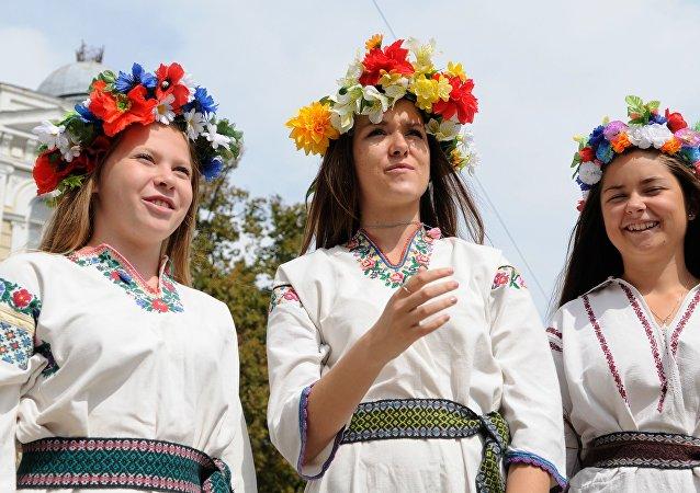 Parada wyszywanek w Kijowie