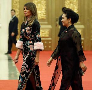 Melania Trump i Peng Liyuan w Pekinie