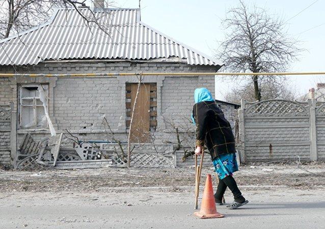 Rezultaty ostrzałów obwodu donieckiego