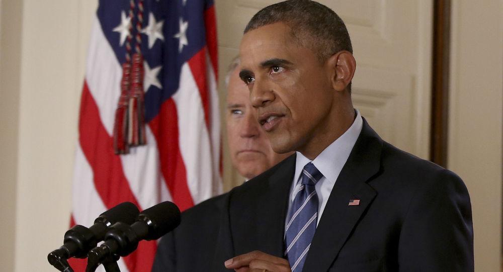 Prezydent USA Barack Obama po rozmowach w sprawie irańskiego programu jądrowego w Waszyngtonie