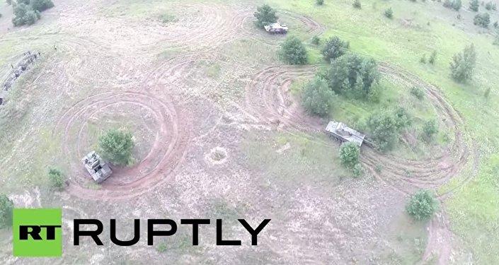 Dron nagrał najnowszą rosyjską technikę wojskową w akcji
