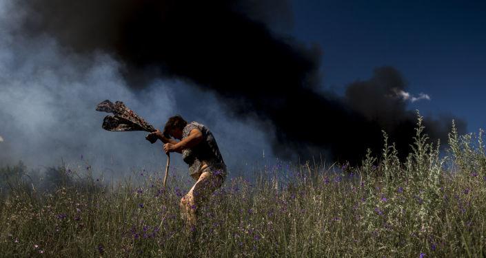 Ługańsk podczas ostrzału