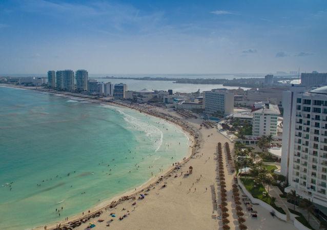 Widok na plaży w Cancun