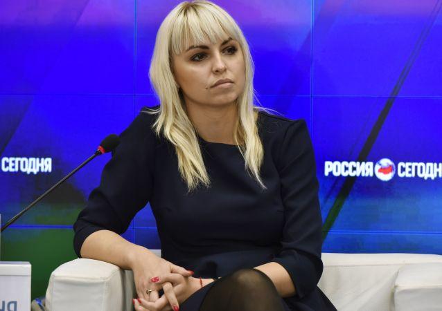 """P. o. przewodniczącego regionalnej organizacji """"Ukraińska Wspólnota Krymu"""" Anastasia Gridczina"""