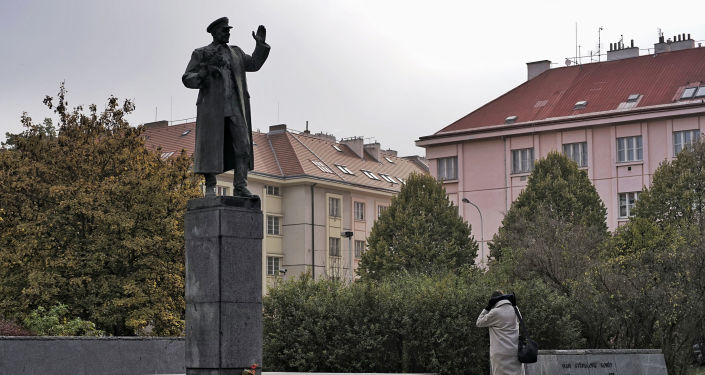 Pomnik marszałka Iwana Koniewa w Pradze