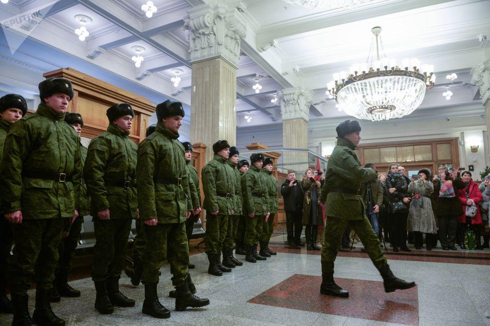 Rekruci do Pułku Prezydenckiego