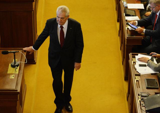 Prezydent Czech Miloš Zeman