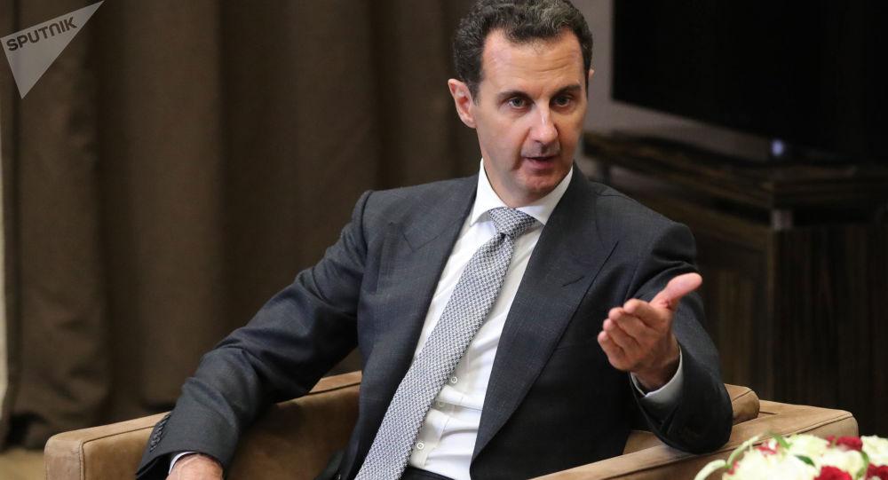 Prezydent Syrii Baszar Hafiz al-Asad na spotkaniu z Władimirem Putinem w Soczi