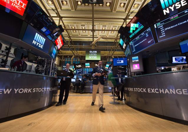 Spekulanci na nowojorskiej giełdzie