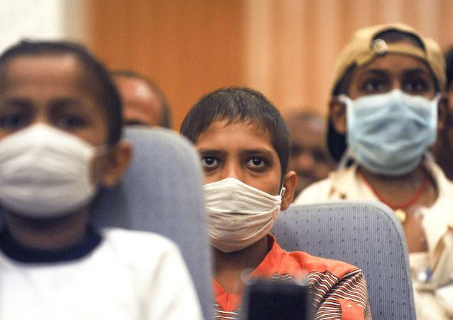 Indyjskie dzieci chore na raka