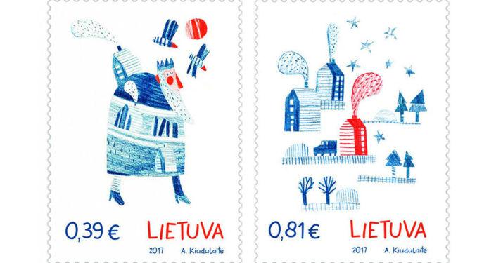 Znaczki pocztowe pachnące imbirem
