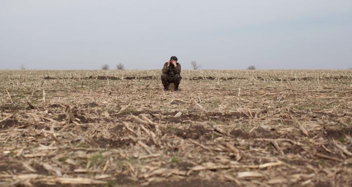 Ukraiński żołnierz w ŁRL