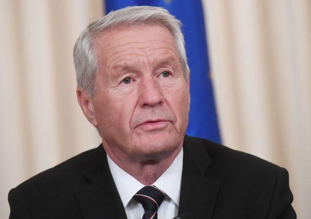 Sekretarz generalny Rady Europy Thorbjørn Jagland. Zdjęcie archiwalne