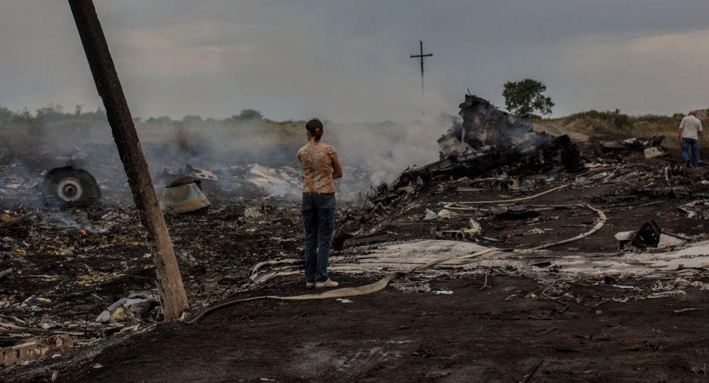 Miejsce katastrofy malezyjskiego boeinga w obwodzie donieckim