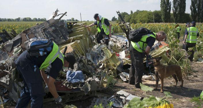 Międzynarodowi eksperci z misji poszukiwawczej na miejscu katastrofy malezyjskiego Boeinga 777 w obwodzie donieckim