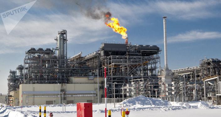 Obszar pierwszego w Rosji zakładu produkującego LNG na Sachalinie