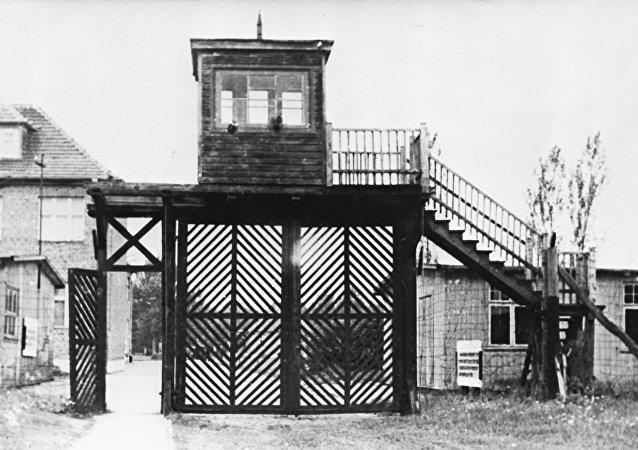 Wejście na teren byłego obozu Stutthof