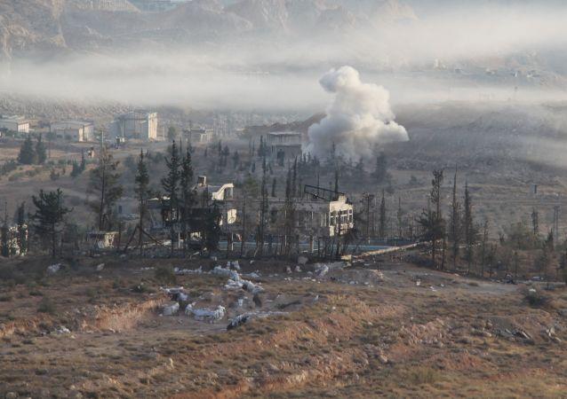 Operacja specjalna syryjskiej armii w mieście Harasta