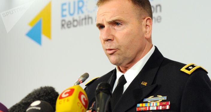 Generał Ben Hodges, dowódca amerykańskiej armii w Europie