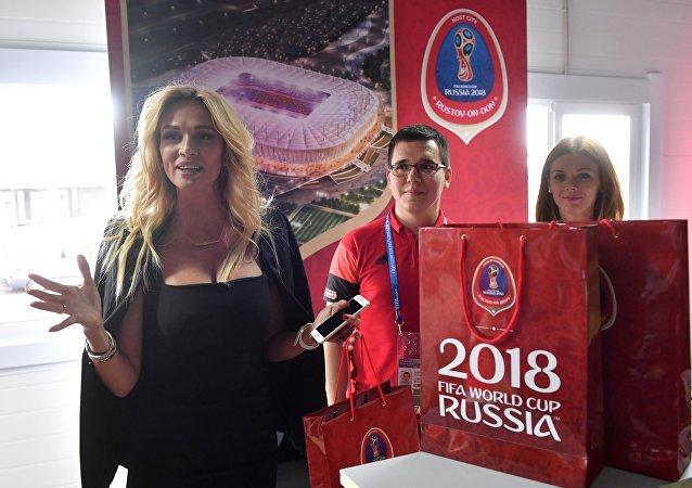 Ambasadorka Mistrzostw Świata w Piłce Nożnej 2018 Wiktoria Łopyriewa