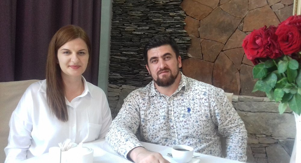 Generalny dyrektor Kompanii Filmowej Czeczenfilm Biesłan Terekbajew i Agnieszka Piwar