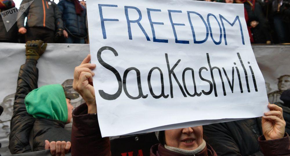 Protesty zwolenników Saakaszwilego w Kijowie