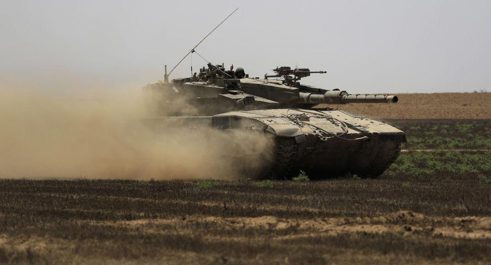 Izraelski czołg w Strefie Gazy. Zdjęcie archiwalne