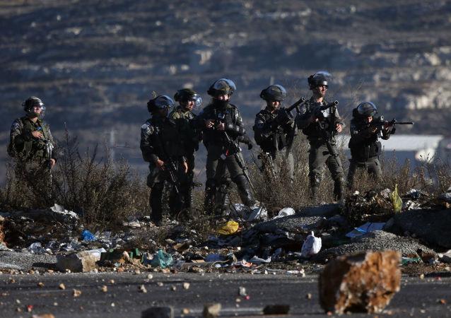 Pracownicy Straży Granicznej Izraela