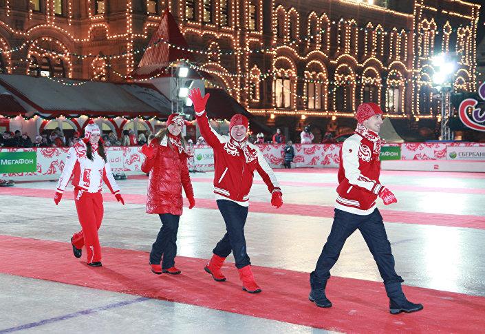 Swietłana Żurowa na Placu Czeronym