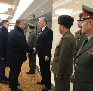 Delegacja Ministerstwa Obrony Rosji podczas wizyty w Pjongjangu, KRLD