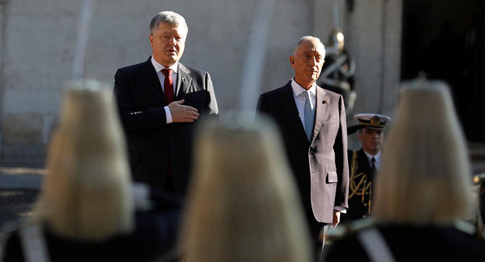 Wizyta prezydenta Ukrainy Petra Poroszenki w Lizbonie