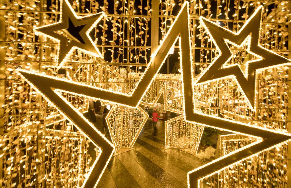 Świąteczne iluminacje w Austrii