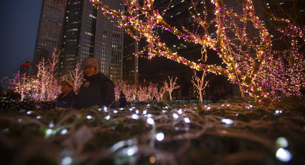 Świąteczne iluminacje w Chinach