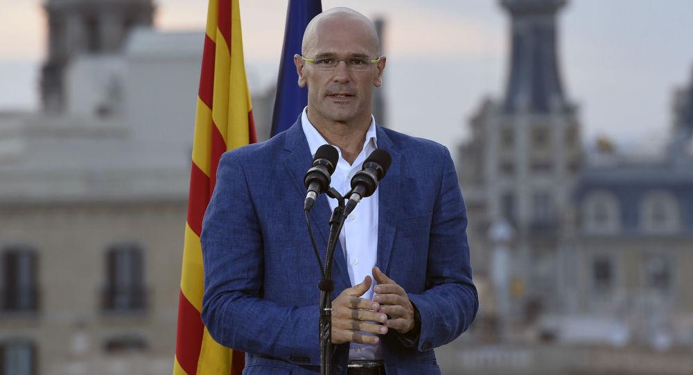 Przedstawiciel ruchu koalicyjnego na rzecz oddzielenia się Katalonii od Hiszpanii