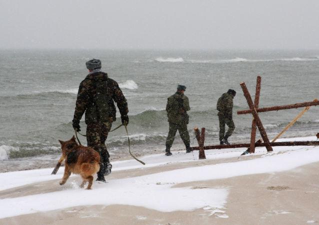 Patrol na granicy Rosji i Litwy