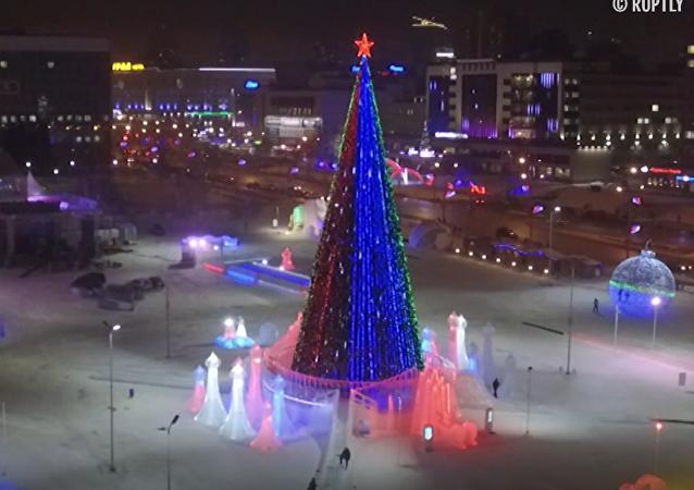 W Permie odkryto największe miasteczko lodowe w Rosji