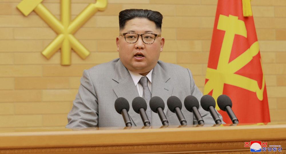 Przywódca KRLD Kim Dzong Un podczas noworocznego przemówienia do obywateli