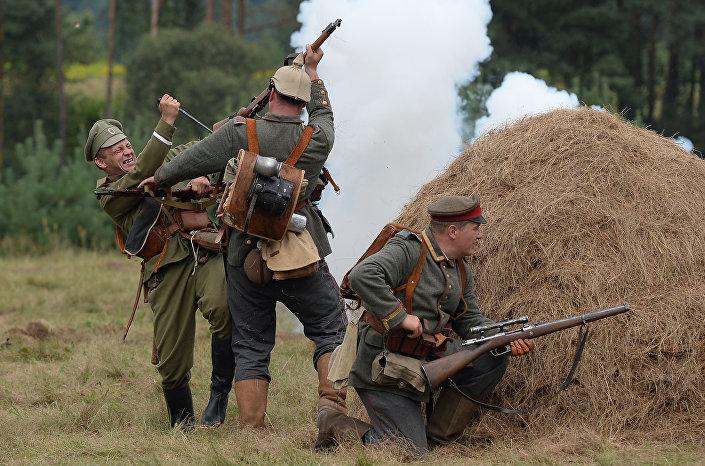 Rekonstrukcja wydarzeń I wojny światowej w mieście Smogoń
