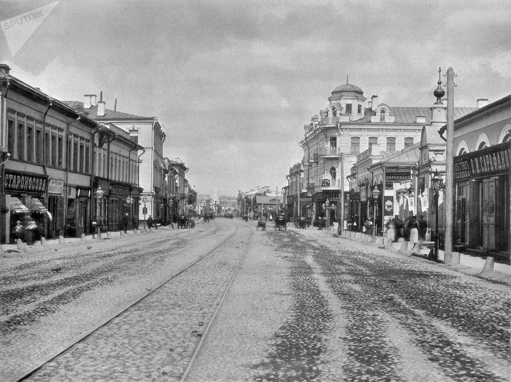 Ulica Stary Arbat w Moskwie, 1888 rok