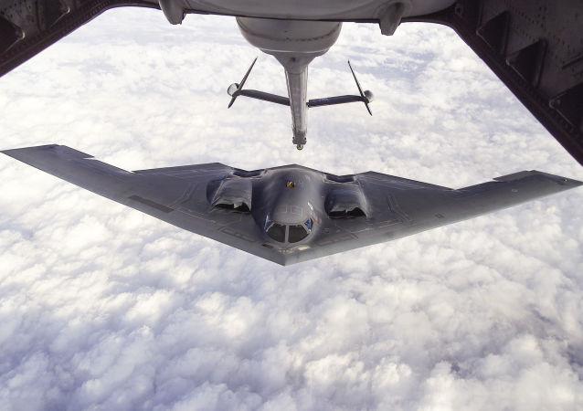 Amerykański ciężki bombowiec strategiczny Northrop B-2 Spirit