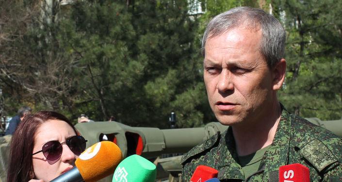 Wiceszef sztabu powstańców DRL Eduard Basurin