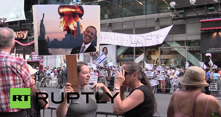 Amerykanie protestują przeciwko porozumieniu z Iranem