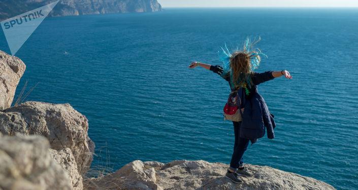 Na klifie Bałakławy na Krymie