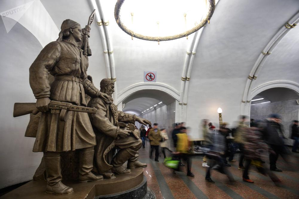 Stacja moskiewskiego metra Biełorusskaja