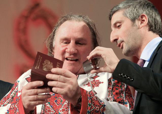 Gérard Depardieu w Sarańsku