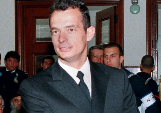 Oficer greckiej marynarki wojennej Marinos Ricudis