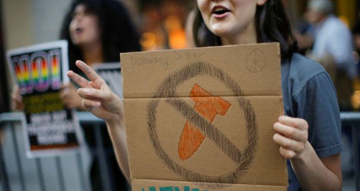 Protesty przeciwko polityce konfrontacji z KRLD, Nowy Jork