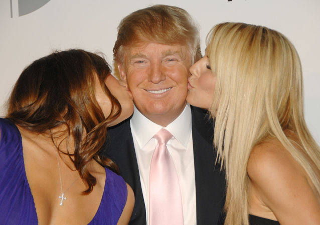 Donald Trump z żoną i modelką Heidi Klum