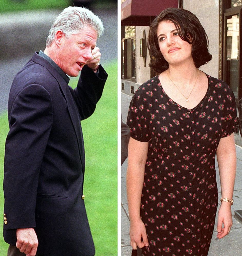 Prezydent USA Bill Clinton i Monica Lewinsky