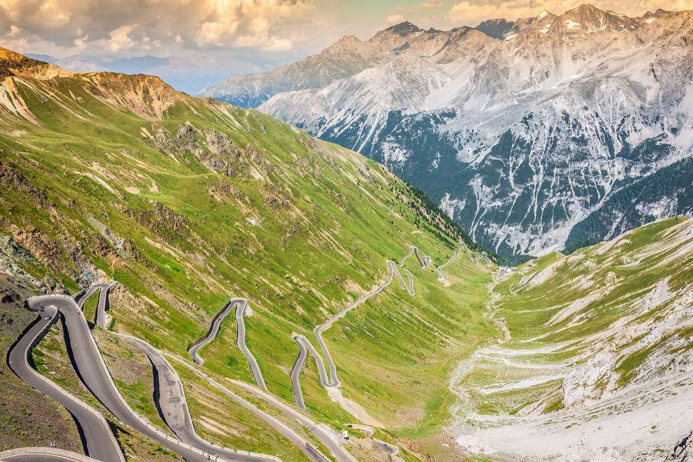 Trasa Passo dello Stelvio we włoskich Alpach